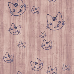 [Free Image] Graphics, Illustration, Animals (Illustration), CG Texture, Cat, 201101231100
