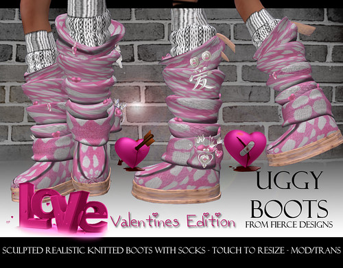 UGGY BOOTS VALENTINES PINK