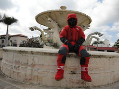 Down suit fountain (rockpup_fl) Tags: west beach down palm suit himalayan downsuit