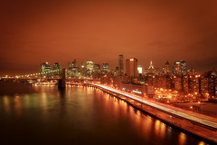 New York City (mudpig) Tags: nyc newyorkcity longexposure bridge newyork skyline brooklyn night geotagged highwa