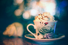 Sweet (grazanna) Tags: cup sweet bokeh cream dolce tazza panna canon50mm