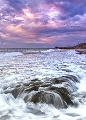 North Beach (KC Tan Photography) Tags: sunset sea landscape rocks surf jetty indianocean wave overcast timeexposure filter perth northbeach mauve westernaustralia trigg cokin photomatix singleshothdr nikond300s tripleniceshot afsdxzoomnikkor1755mmf28difed graduatemauve