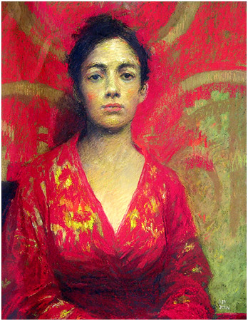 Girl in Red and Gold Silk