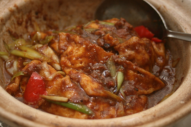 Braised Tofu with Minced Meat