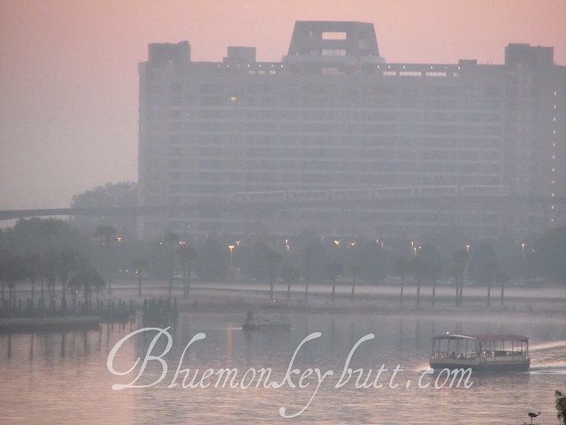 Contemporary Resort at dawn