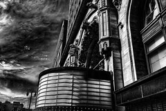 The Last Picture Show (Steve Mitchell Gallery) Tags: building buildings structures theater theaters theatre theatres movies cinema marquee urban landscape urbanlandscape street bw blackandwhite