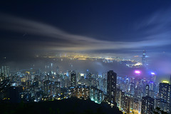 One day night (Yuichi@hk) Tags: hongkong peak night nightview nightshot blue building victoriapeak cloud cityscape nikon distagon carlzeiss        100