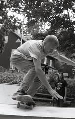 Sweden Style Skateboarding I (Magnus Bergstrm) Tags: canonae1 canon ae1 analog bw blackwhite blackandwhite kodak kodaktmax100 kodaktmax tmy 100tmx sweden sverige ramp skateboard skating grums hembygdsgrd vrmland tottaf00