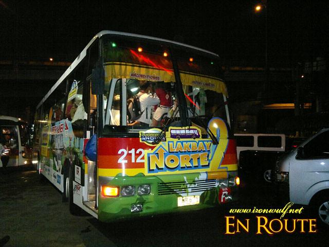 The Lakbay Norte 2 Bus at Victory Liner Kamias