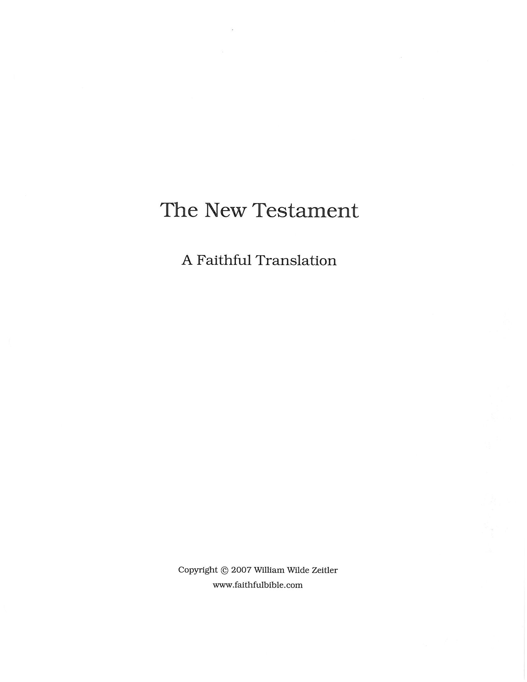 William Zeitler - Internet Bible Catalog