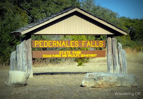 Pedernales Falls. Sign