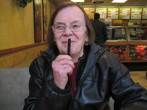 mom with licorice