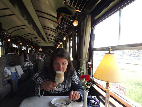 Lattes on Peru Rail's Andean Explorer