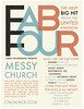 Messy Church Poster - Fab Four