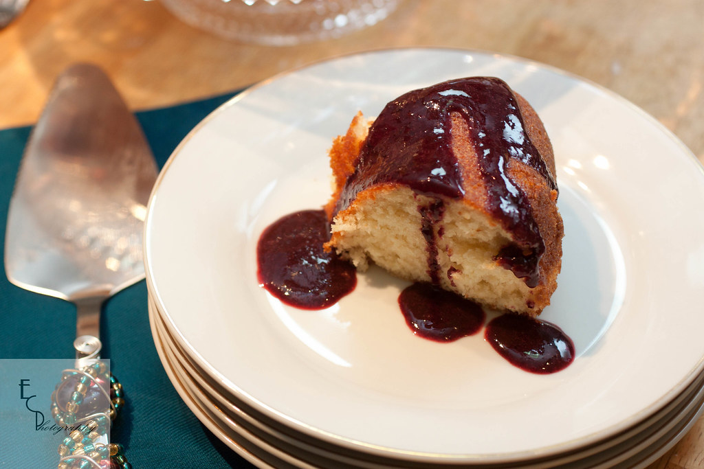 5394664893 d73494289d b d Pomelo Cake with Blackberry Sauce