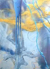 dario urzay. vertice del observador tan cerca ii 2008. técnica mixta sobre aluminio. colección ca2m