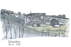 Taverneux (gerard michel) Tags: sketch village belgium luxembourg croquis