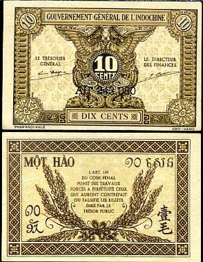 10 Centov Francúzska Indočína 1942, P89
