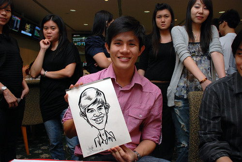 caricature live sketching for Thorn Business Associates Appreciate Night 2011 - 28