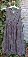 10 grey lace dress