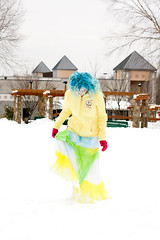 Day 63 of 365 - Year 2 (wisely-chosen) Tags: selfportrait snow me january canon50mmf18 bluehair tokidoki 2011 365days naturallycurlyhair manicpanicbadboyblue curlformers adobephotoshopcs5extended