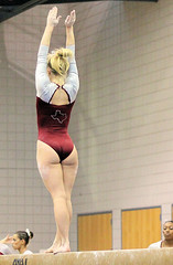 TWU Gymnastics Beam - Brittany Johnson (Erin Costa) Tags: horse college oklahoma turn dance bars university texas floor exercise tx kitty run womens swing beam arena mount flip gymnastics ou stick balance vault ncaa leap tumble twu routine uneven womans sooners magee dismount usag twugymnastics