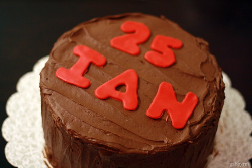 Tim's cake for Ian