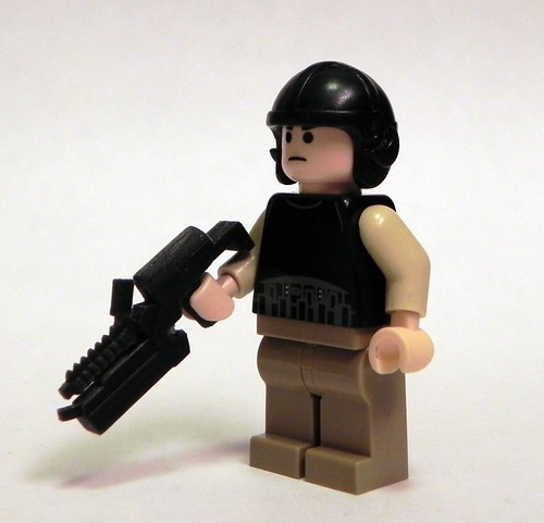 Custom minifig Alien Lighting Gun