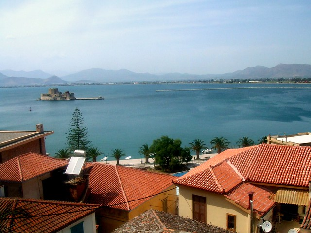greece - nafplion, turquoise & orange