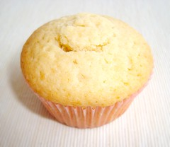 Marzipan-Filled Almond Cupcake