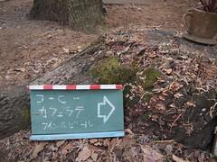 すぐそこ (がじゅ) Tags: 散歩 公園 井の頭公園 看板 カフェ epl2