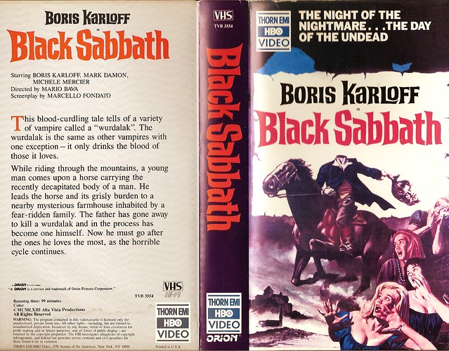 Black Sabbath (VHS Box Art)