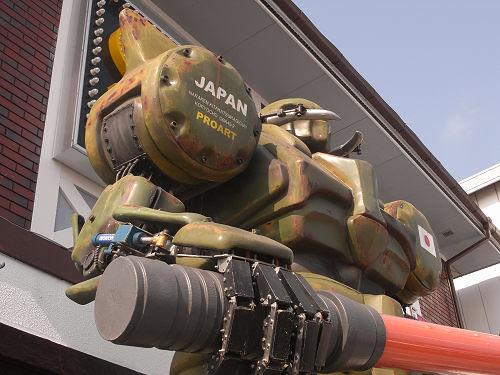 ザク?パトレイバー?24号線の「大型ロボット」@天理市