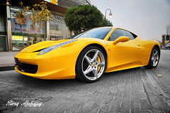 Ferrari 458 Italia | GGG 070 (Tareq Abuhajjaj | Photography & Design) Tags: light red bw white black cars car sport yellow night race speed dark photography lights design photo big high nice nikon flickr italia power top wheels fast gear f1 ferrari turbo saudi arabia manual carbon fiber rims riyadh v8  drift ggg 2010 ksa  070 tareq         d700       foilacar tareqdesigncom tareqmoon tareqdesign  abuhajjaj