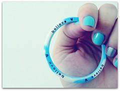 Photography Journal 36/365 (Teka e Fabi) Tags: blue azul disney mickey believe bracelet pulseira silicone borracha acreditar tekaefabi