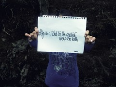 Day Ten: Lost  (Zero) Tags: life park cute art nature girl forest canon vintage zoe walking photography words hands day quote teens hike teen zero challenge 60