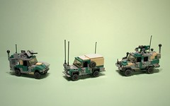 Three for the road (Aleksander Stein) Tags: light volvo wolf lego utility rover land vehicle jdi wolfhound miltary fenrir lmv c404 ampv