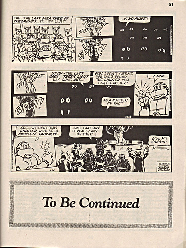 "ComicsReview #62 :: 'Teenage Mutant Ninja Turtles' { newspaper strip } 0424-04261991,  "" The Last Gaea Tree""  pg.51 (( 1991 ))"