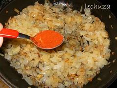 Risotto de mejillones-cebolla
