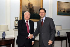 Συνάντηση ΥΠΕΞ Δ. Δρούτσα με τον τέως ΥΠΕΞ της Ισπανίας Μ. Α. Moratino - Meeting of FM D. Droutsas with former Spanish FM M. A. Moratino