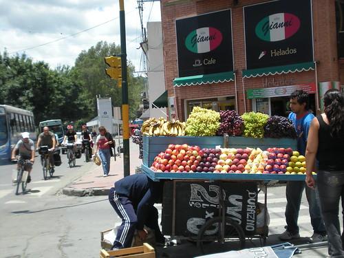 Fruit on the streets near San Lorenzo