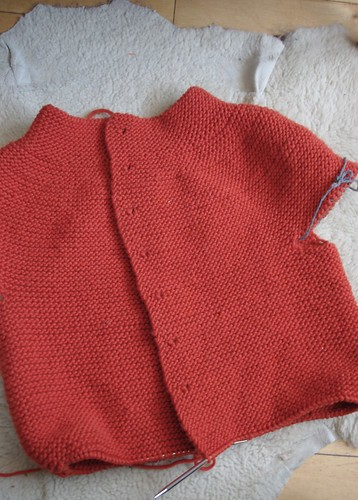 FLOGS Sweater progress as of 2/9/11