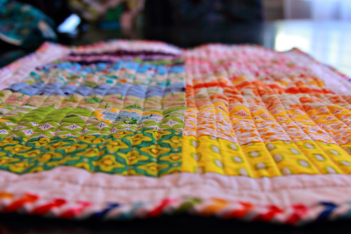 Pooh's quilting detail