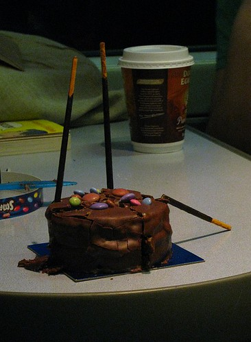 Smarties Cake on a Train