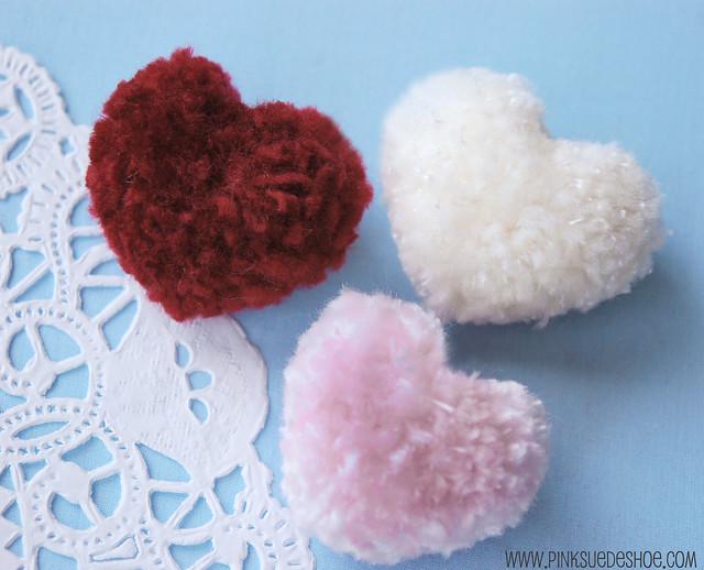 pompom hearts