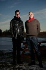 Peter and Ola (lasard) Tags: göteborg gothenburg nikon sb700 strobist umbrella sweden winter lake frozen afternoon sky field colors snow ice clouds vass