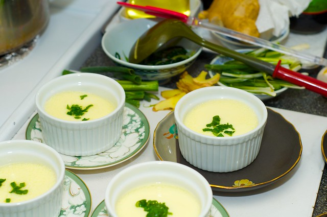 Steamed eggs