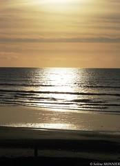 Plage de Coutainville (Gaby San Feliu) Tags: ocean sea sun mer beach de soleil coucher bleu normandie vagues plage manche coutainville