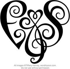 """""""E&S"""" Heart Design"""
