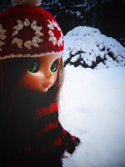 ジェシカ、初めての雪。